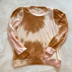 Status by Chennault Rustic Tie Dye Ribbed Sweater